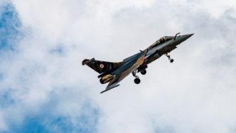 Dassault Rafale des Rafale Solo Display der Armée de l'Air auf der Air Legend 2019 in Melun-Villaroche in der Sonderlackierung zum zehnjährigen Bestehen des Teams