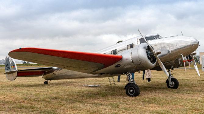 Lockheed Modell 12 Electra Junior auf der Air Legend 2019 in Melun-Villaroche