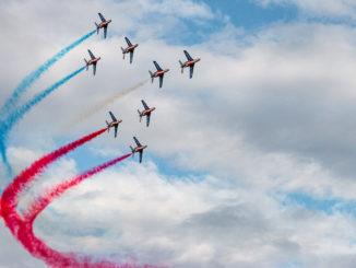 Patrouille de France mit Alphajet auf der Air Legend 2019 in Melun-Villaroche