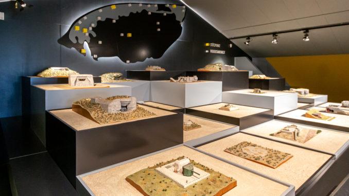 Modelle der deutschen Bunkeranlagen und Stellungen auf Texel