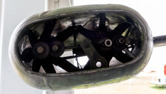 Ramjet-Triebwerk der NHI H-3 Kolibrie mit Blattspitzenantrieb
