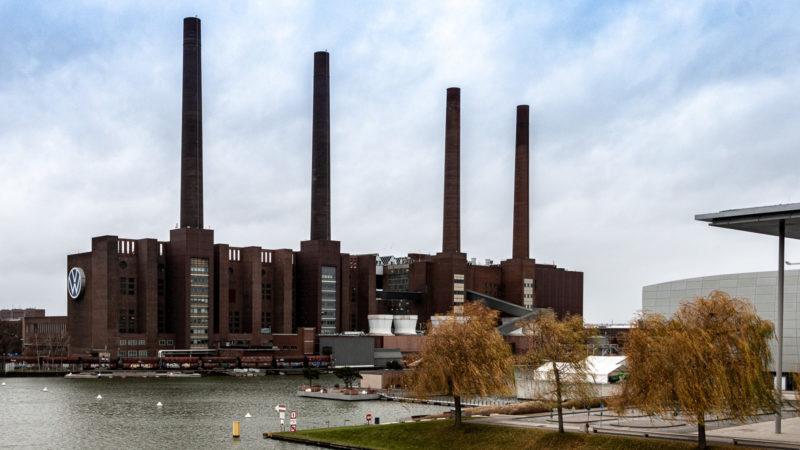 Das historische Kraftwerk des Volkswagen-Werk Wolfsburg