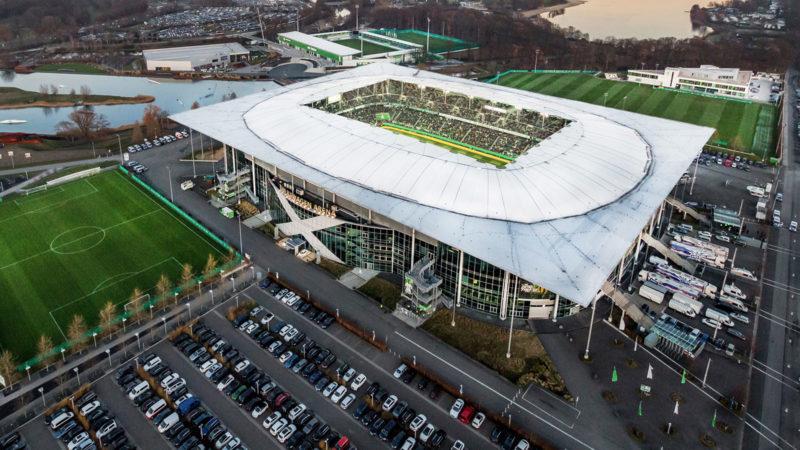 Luftbild Volkswagen Arena; Foto: VfL Wolfsburg / Volkswagen Arena