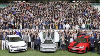 Tribünennutzung bei der Begrüßung der neuen Volkswagen-Azubis; Foto: VfL Wolfsburg / Volkswagen Arena