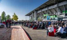 Auch der Außenbereich der Volkswagen Arena kann für Events gebucht werden; Foto: VfL Wolfsburg / Volkswagen Arena