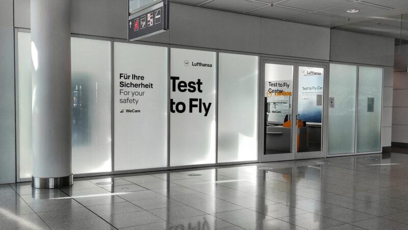 Lufthansa Corona Testcenter (air side) in München (Foto: @LouLouMcFly)