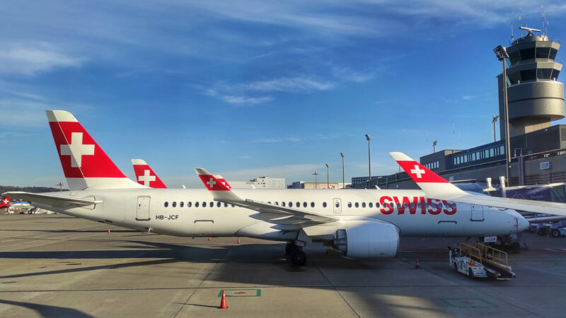 Swiss Airbus A220 in Zürich (Foto: @LouLouMcFly)